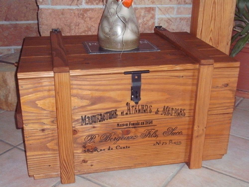 Holztruhe Tisch alte frachtkiste couchtisch vintage holztruhe wein tisch shabby