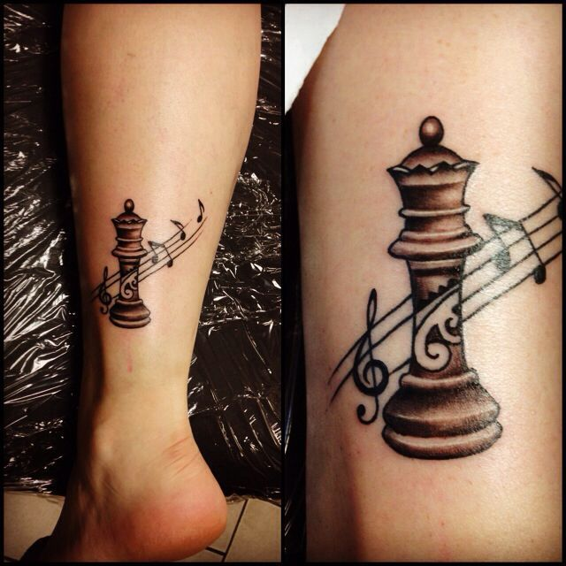 Image Result For Queen And King Chess Piece Tattoos Tattoo S