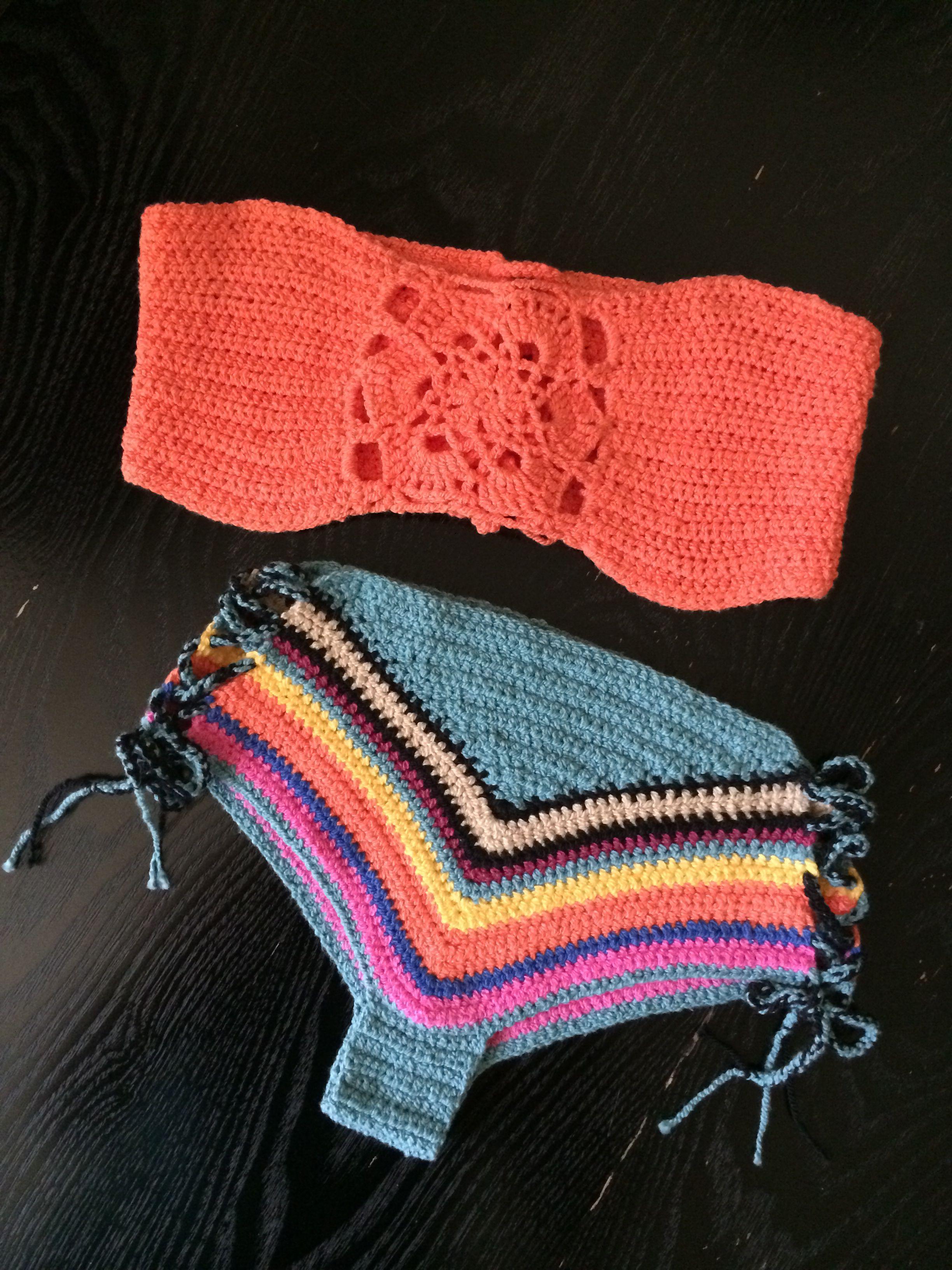 ️Star Coral Bandeau + CrissCross Tribal bottom is so bright and sunny! #bandeau #tubetop #bikini #crochetbikini #crochettop #madetoorder #handmade #worldwidedelivery #dubai #hippie #boho