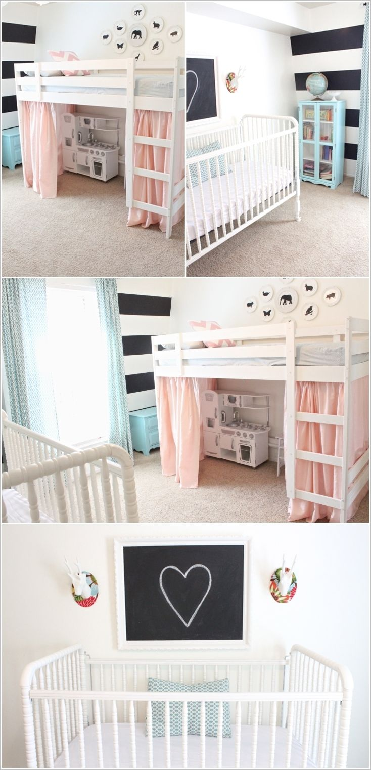 Cute Baby And Toddler Shared Room Designs