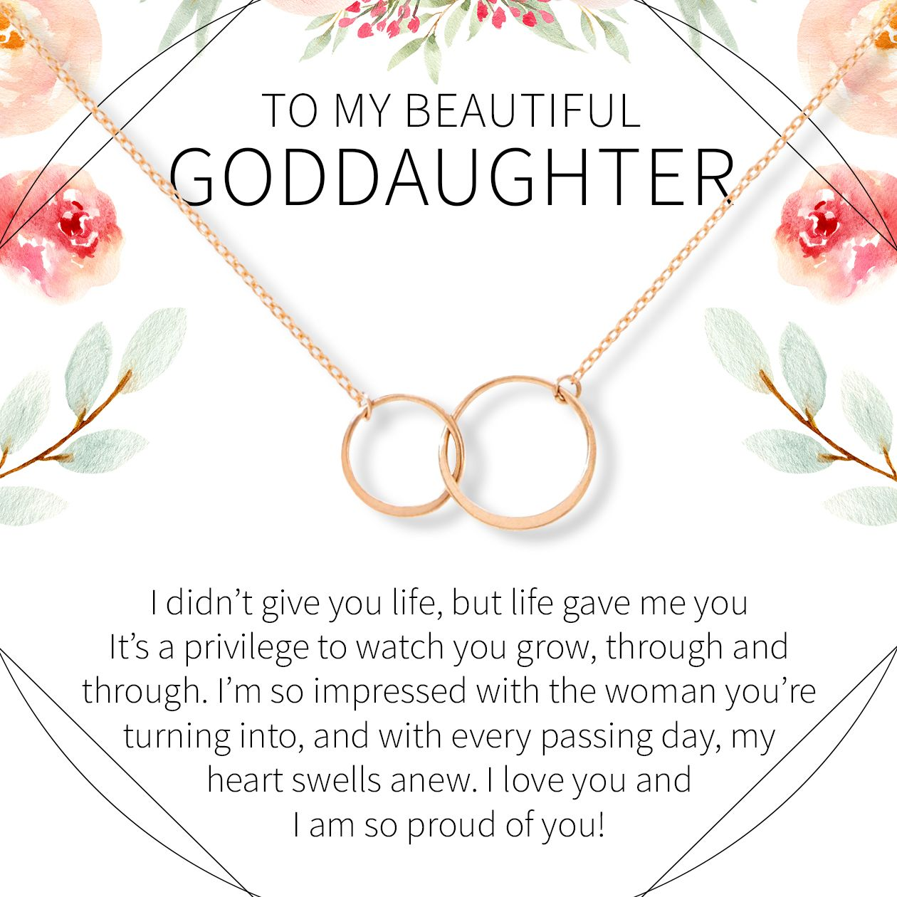 Goddaughter necklace multiple styles sister of the