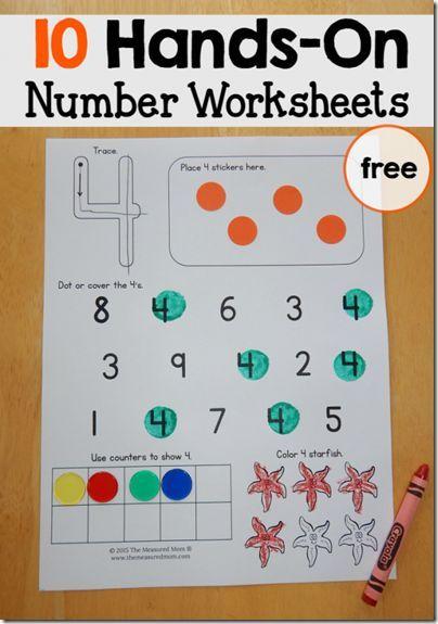 FREE Number Worksheets | Free printable numbers, Kindergarten age ...