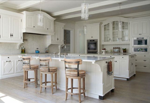 Off White Kitchen. Great paint color in this off white kitchen ...