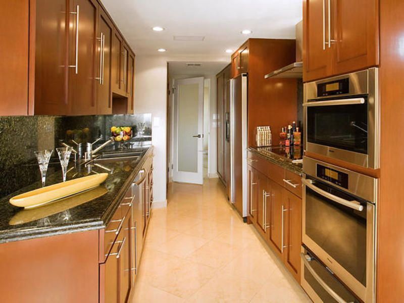 Small Galley Kitchens Galley Kitchen Designs Small Galley - Recessed lighting layout galley kitchen