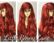 Ariel Little Mermaid Custom Adult Costume Wig Style 2 DOUBLE Thick - A True Enchantment Original