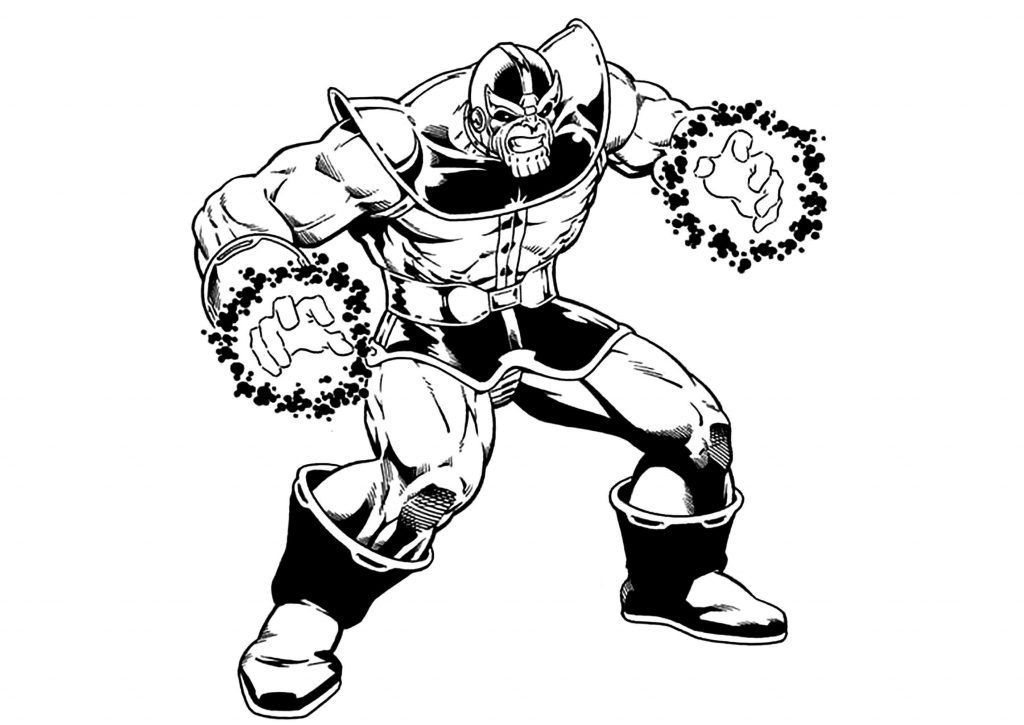 Thanos Coloring Pages   Avengers coloring pages, Avengers coloring ...