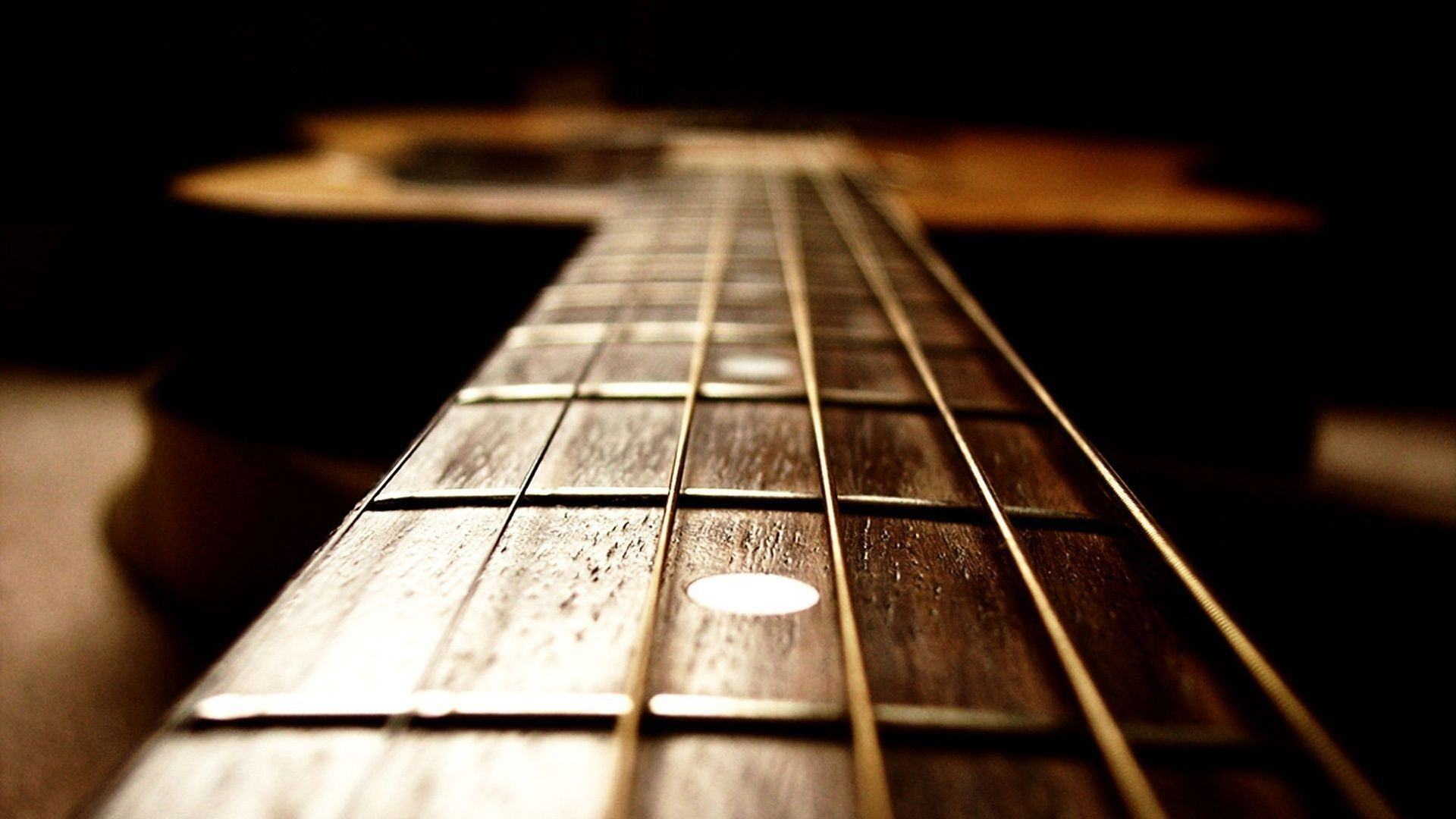 Inspirational Guitar Desktop Background