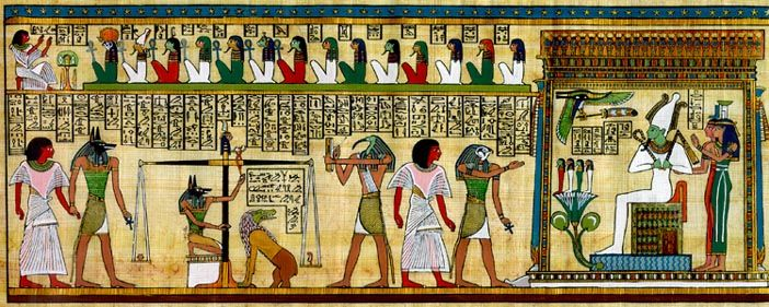 Egyptian Afterlife Ceremonies In The Hall Of Two Truths The