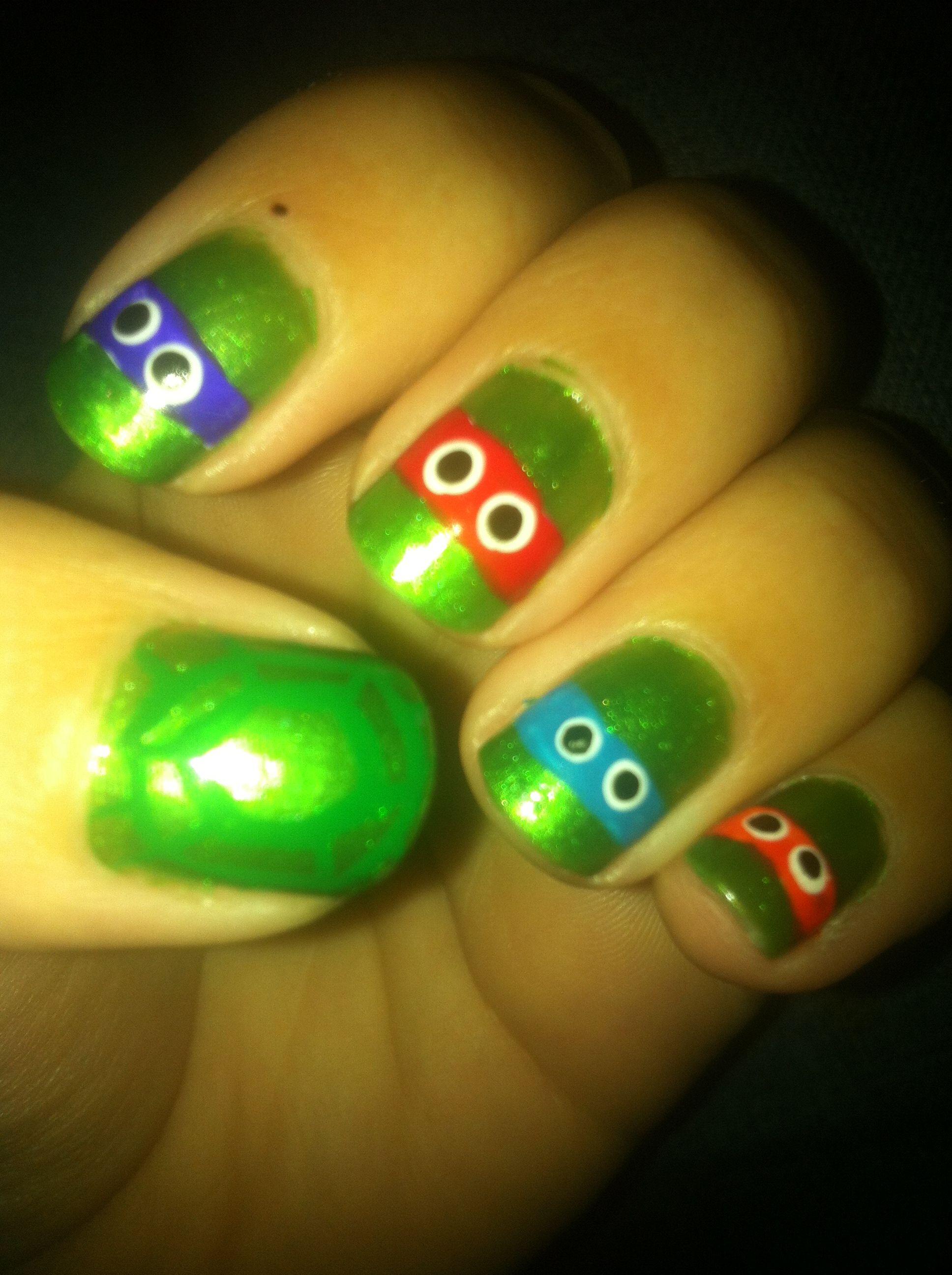 Teenage mutant ninja turtle nails   Halloween   Pinterest