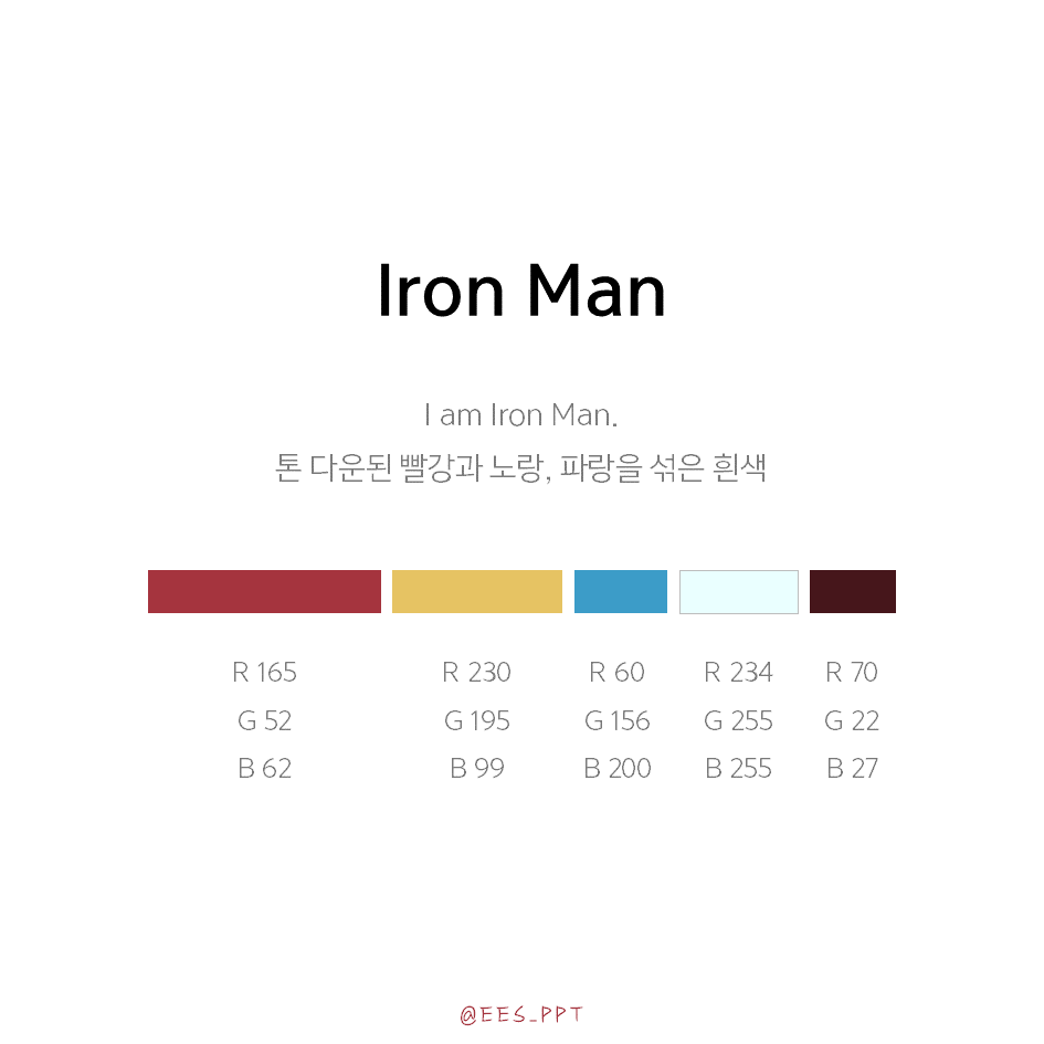 Iron man, Spider man, Captain America, Black Panther color