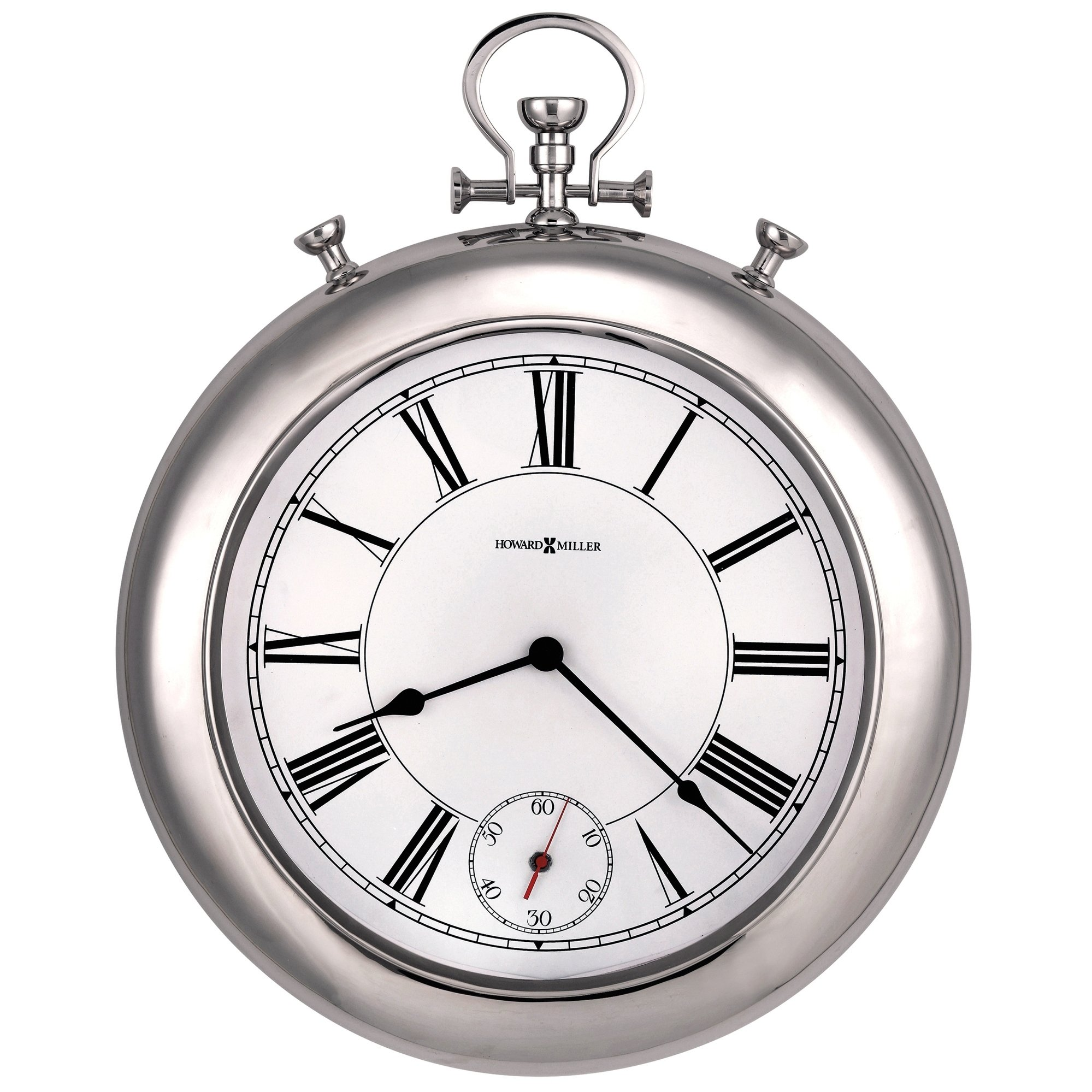 Pin By Kh Bishojit On My Saves Howard Miller Wall Clock Chrome Wall Clock Oversized Wall Clock