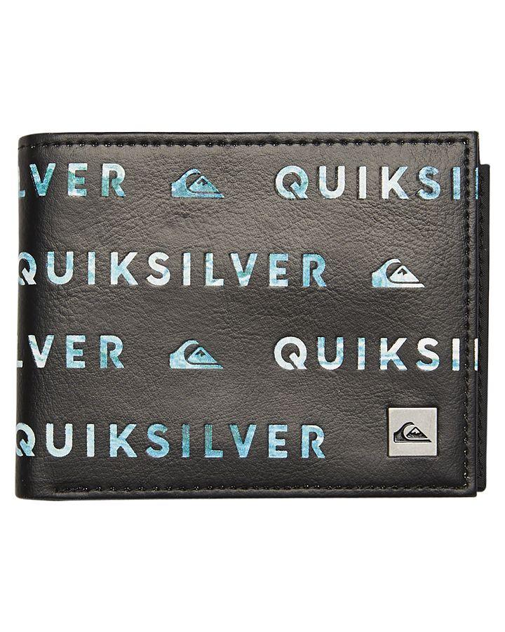 181adfd7e4 Mens Quiksilver Prime Fade Iii Wallet Black Cotton | Wallets | Men ...
