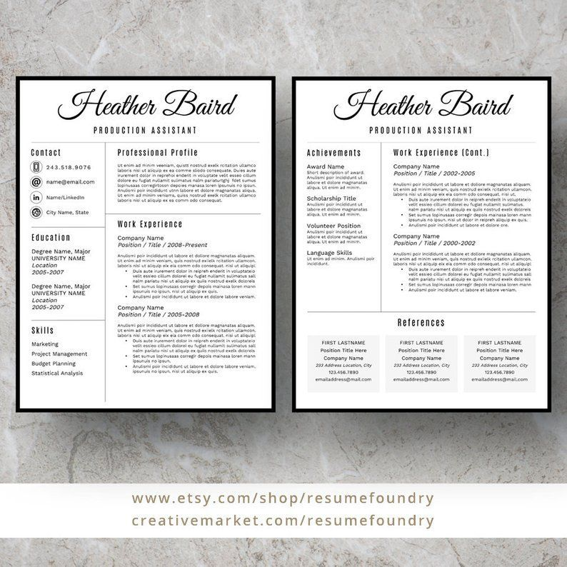 bold and modern resume template for word 1
