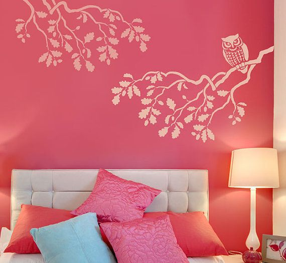 STENCIL Wise Owl MED Reusable Wall Stencils Better Than