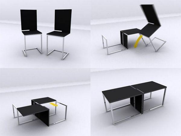 tisch stühle transformierende möbel | Transformation | Pinterest ...