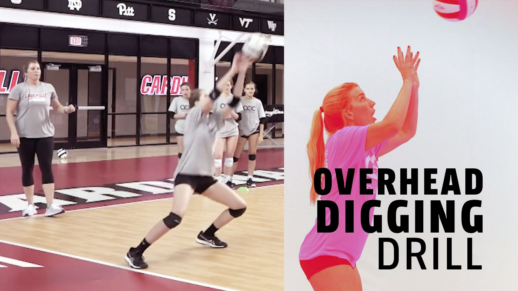 Overhead Digging Drill Hands Together Cup Coaching Volleyball Volleyball Skills Volleyball Training