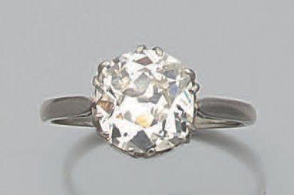 bague solitaire diamant taille ancienne