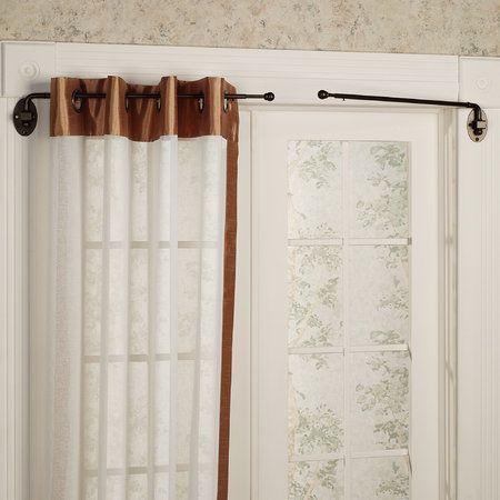 Adjustable Swing Arm Rod Set 20 To 36 Swing Arm Curtain Rods Curtains Curtain Rods Heavy duty swing arm curtain rod