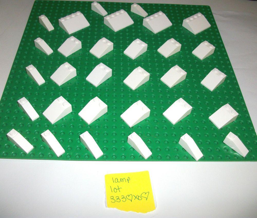 10 99 Ebay Lego Legos Starwars Legofriends Lego White Roof Tile Slopes 4286 3298 3297 25 Deg 1x3 1x3x4 4set 10129 10215 Roof Tiles Roof Tiles