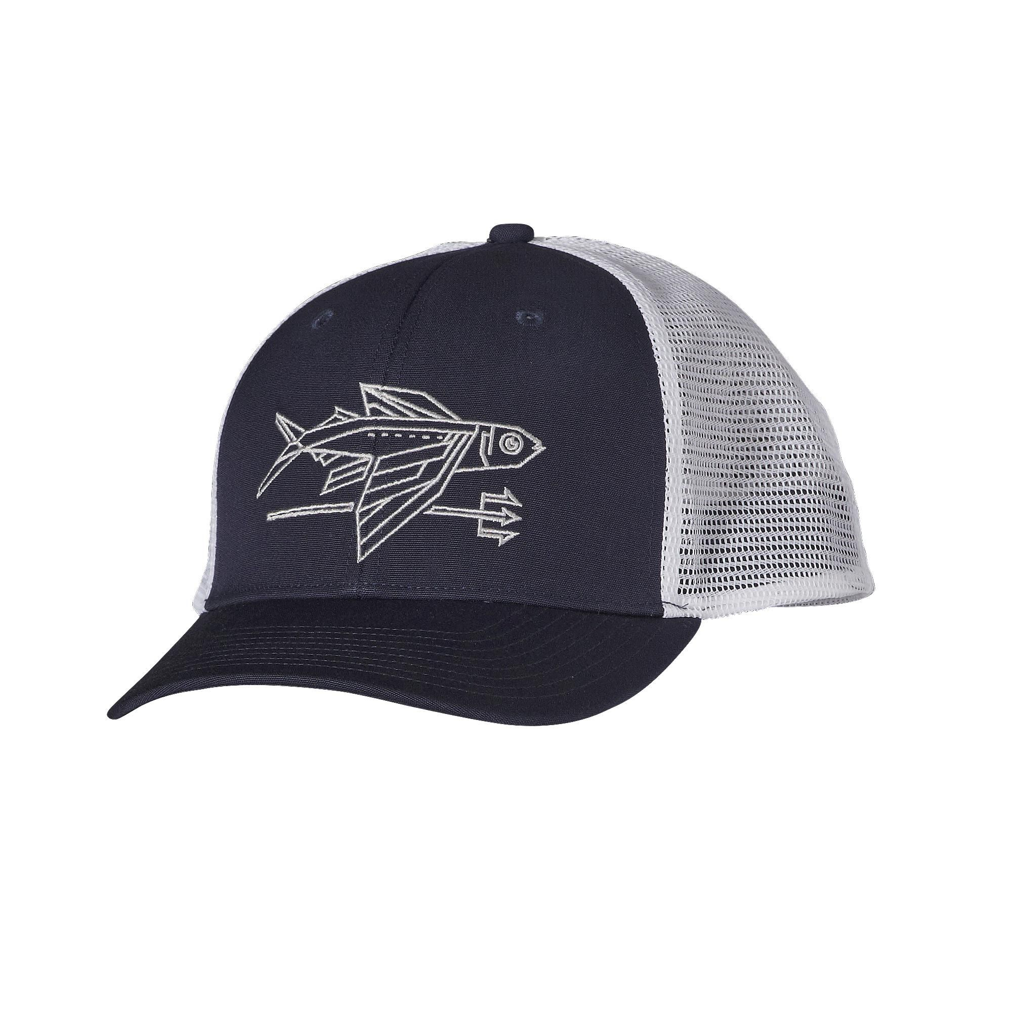 28231b6912cbc The Patagonia Geodesic Flying Fish Trucker Hat revisits our favorite flying  fish logo in clean lines. Check it out.