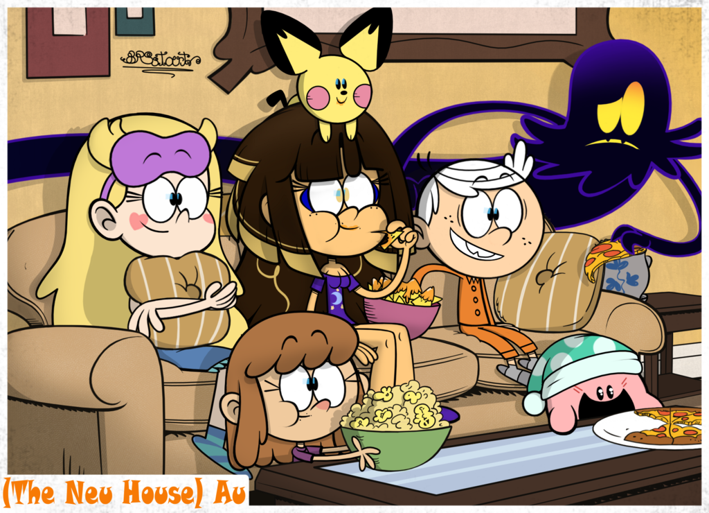 Tlh Au Tnh Movie Night By Brsstarjv The Loud House Fanart Cartoon Crossovers Loud House Characters