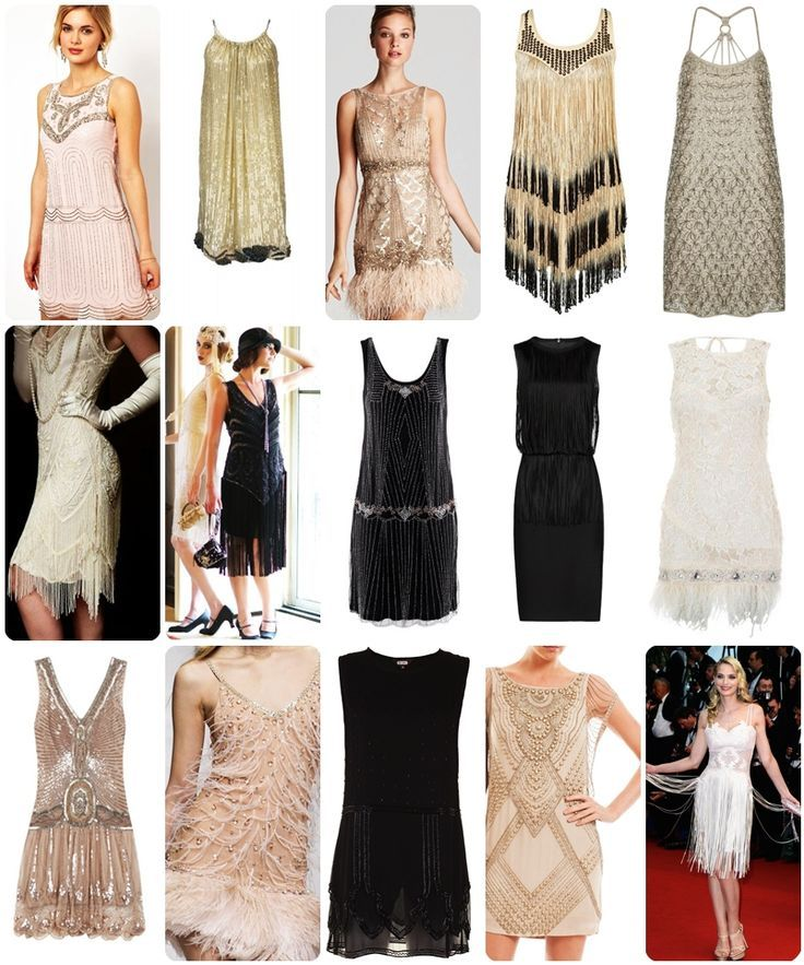 Gatsby dresses-  I wish I had fancy parties to go to all the time so I could wear dresses like these!