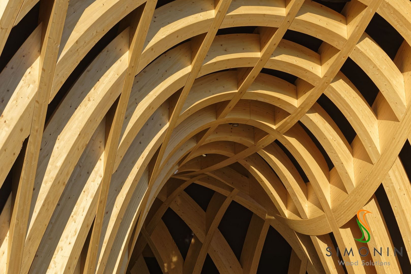Simonin Made These Single And Double Curved Wooden Glulam