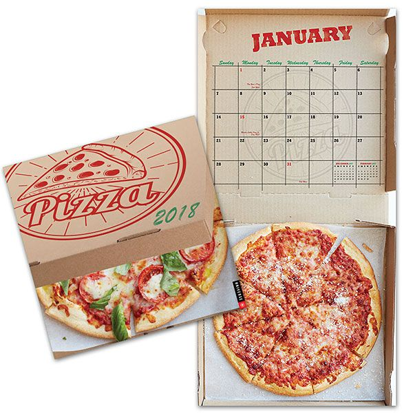 Make every night, PIZZA night with the 2018 Pizza Calendar Gifts