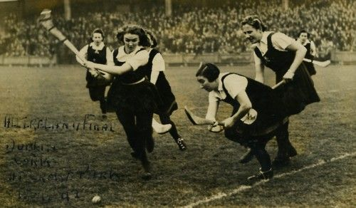 Yes!  I could do a WWII Camogie Impression!  ;)  1942 Camogie Final