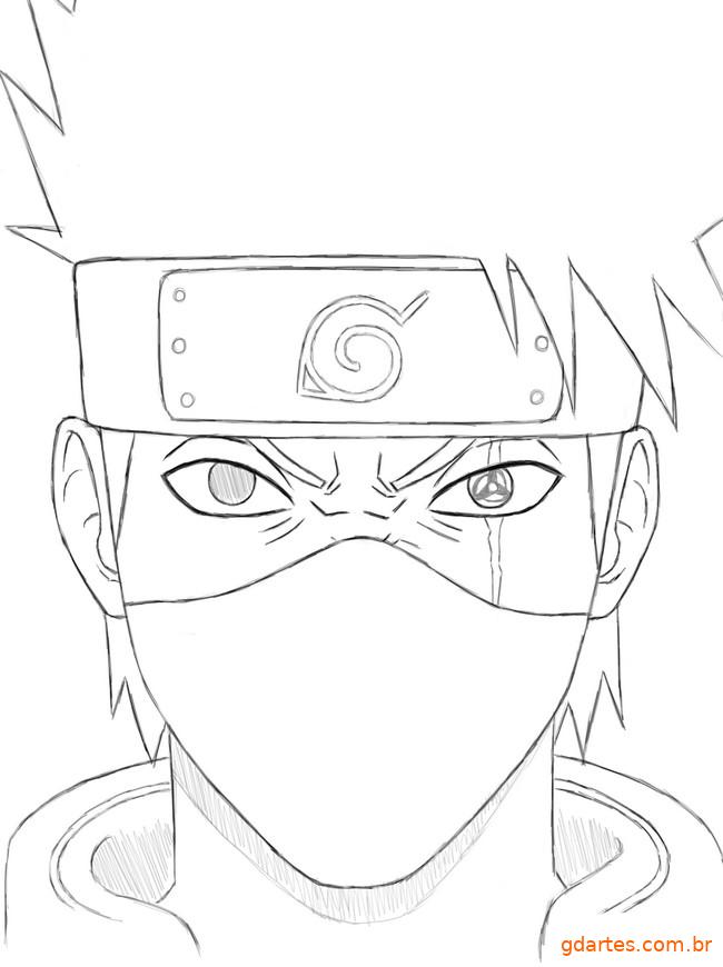 Kakashi Desenho Kakashi Desenho Desenhos Para Colorir Naruto