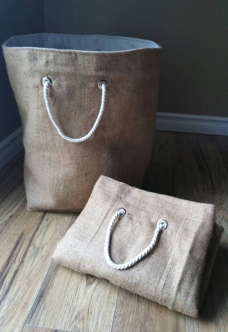 Laundry Bags With Handles Stunning These 10 Laundry Hampers Will Look At Home In Any Room  Laundry Decorating Design