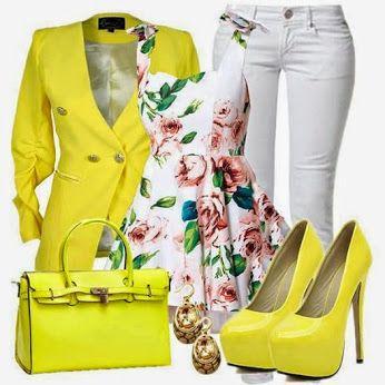 Yellow + flower power....!