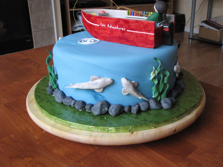 Fishing Boat Cake My Cakes Pinterest Boat Cake And Cake - Fishing boat birthday cake