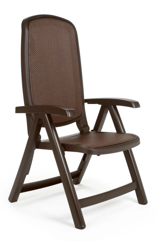Nardi Cafe Delta 5 Position Folding Chair Rattan Outdoor