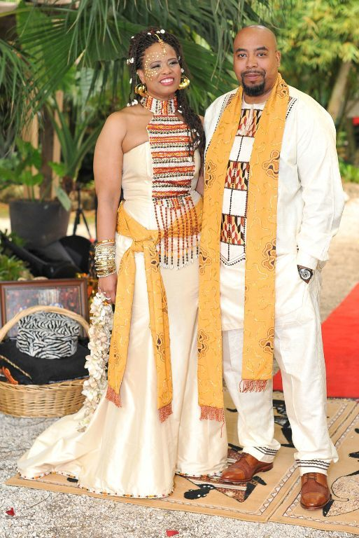 Ethnic And African Inspired Wedding Attire For Bride Groom