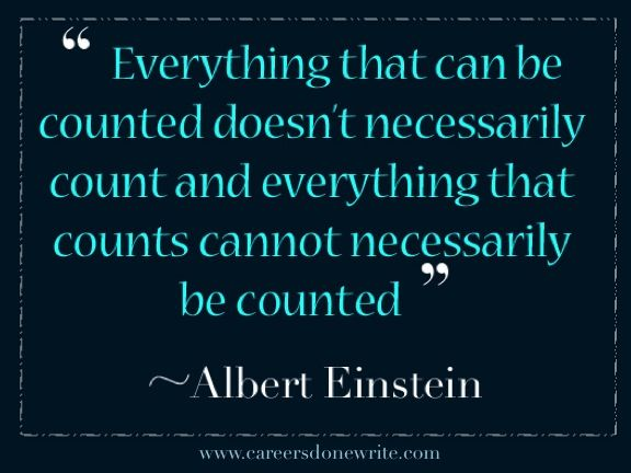 Inspiration from Albert Einstein - Job tips - career help blog - resume coach