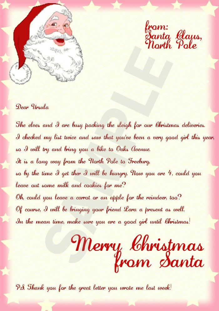 Letter From Santa Stationary Template  Bing Images  Mary