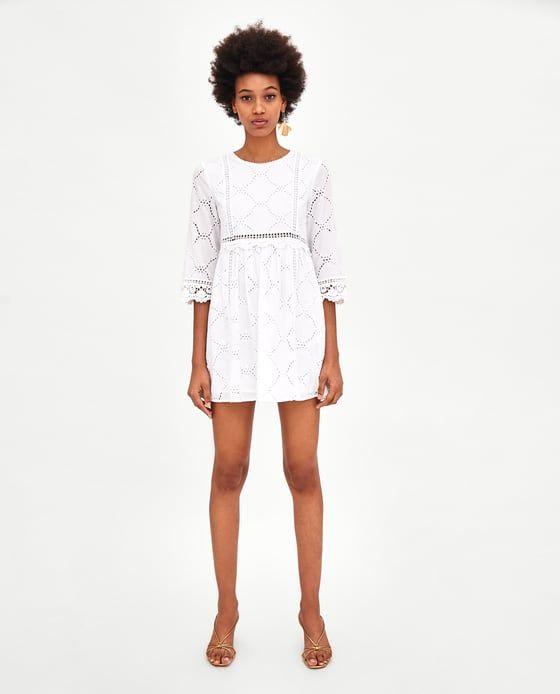Ricami Design Immagine Con Di 1 Dal Traforato Tuta Vestito Zara rxtsCBhdQ