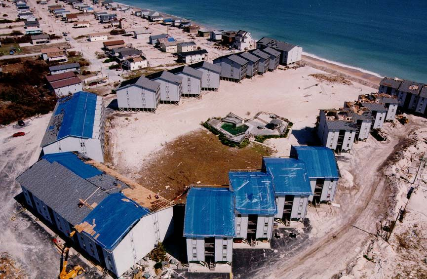 Surf Condos After Hurricane Fran Photographer Unknown Surf City Nc Topsail Island Surf City Topsail Island