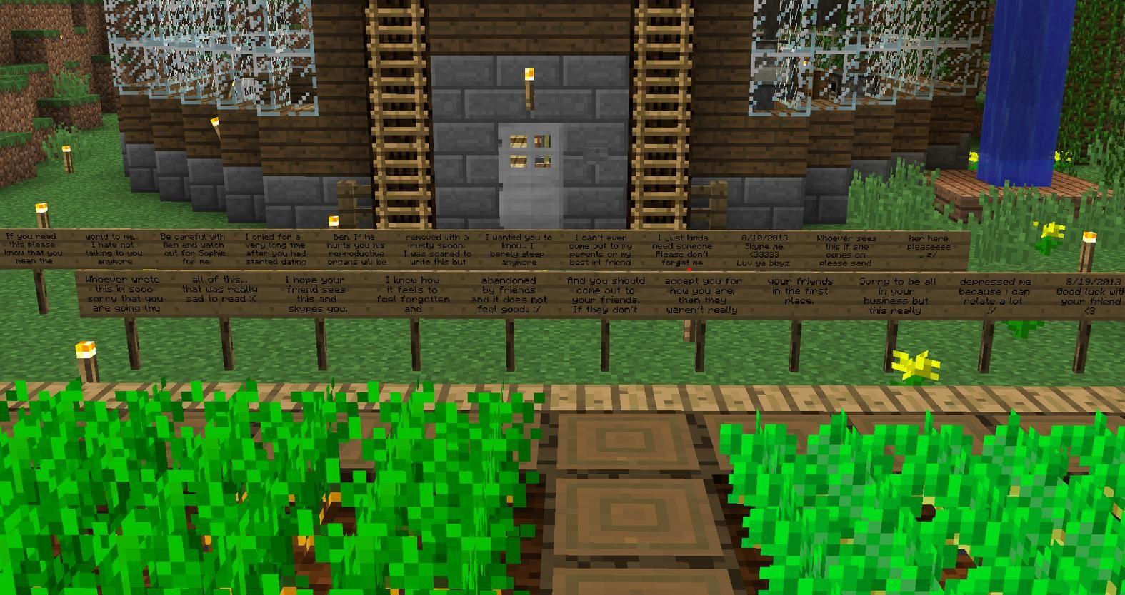 Minecraft Data Mining Reveals Players Darkest Secrets Depressing - Minecraft hochhauser