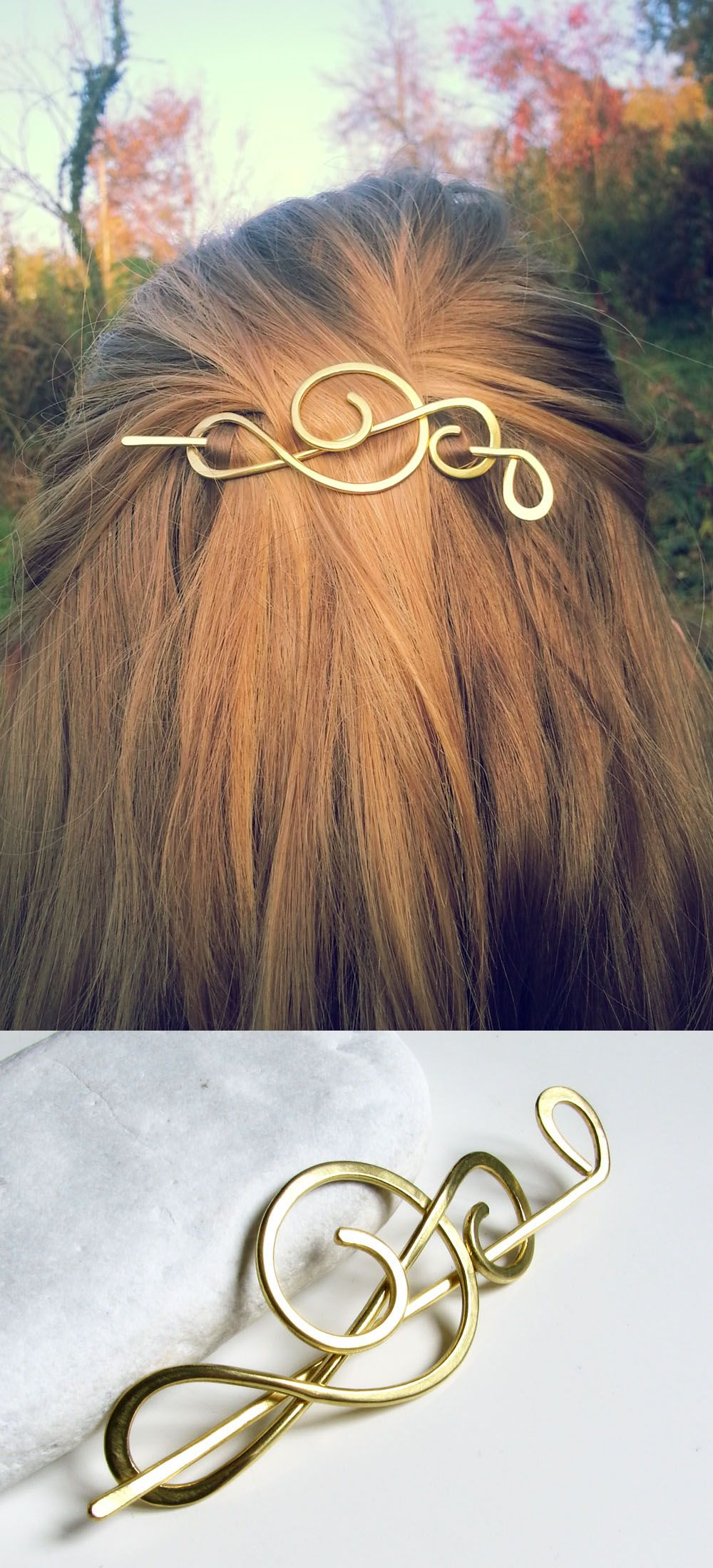 Treble clef hair clip - Music notes gift - Singer gift - Brass brooch for  sweater - Shawl pins - Womens gift For her 15eb8b3d0f