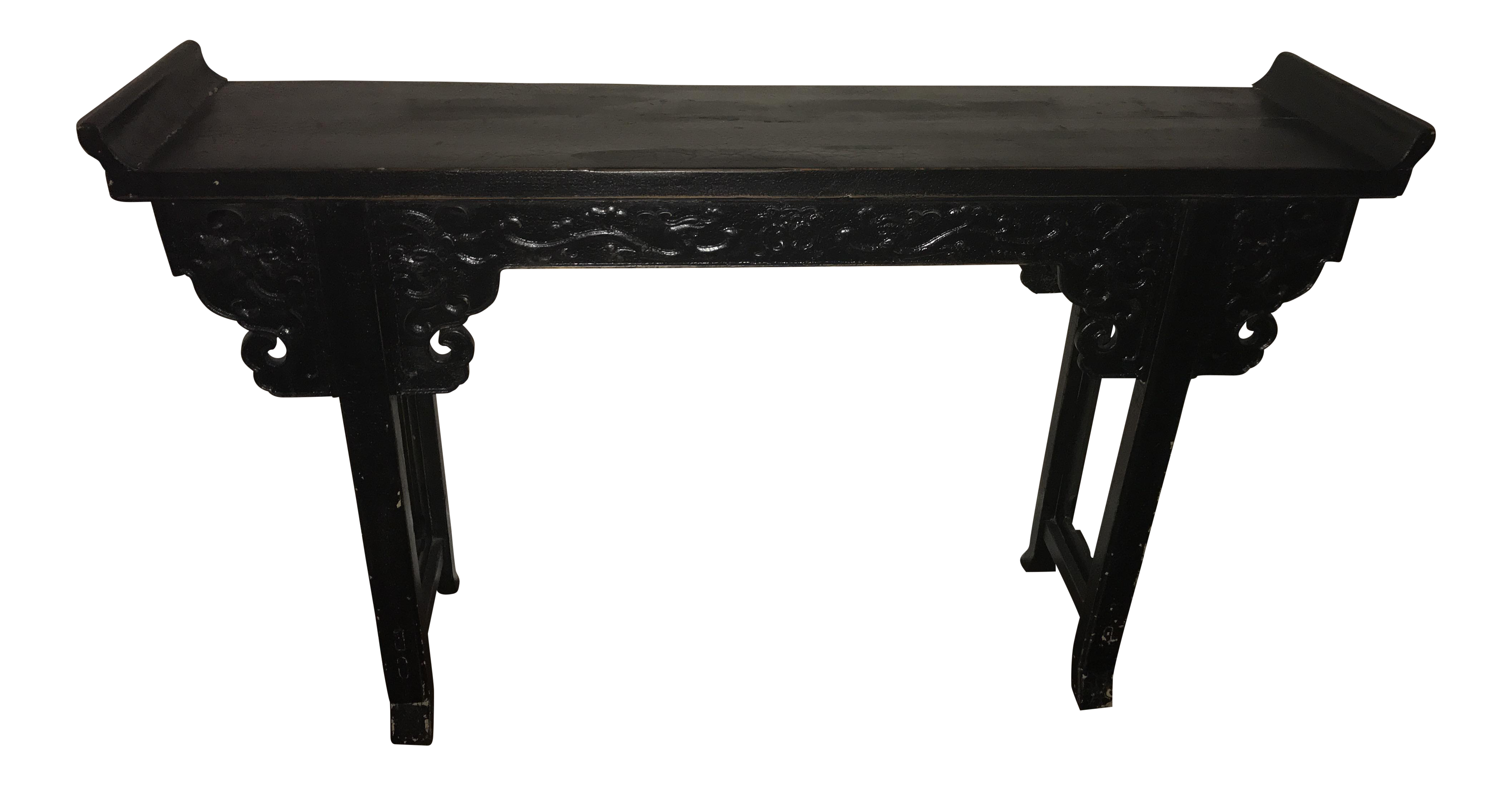 Chinese Black Lacquer Inlaid Nesting Tables Nesting Tables Table Oriental Furniture
