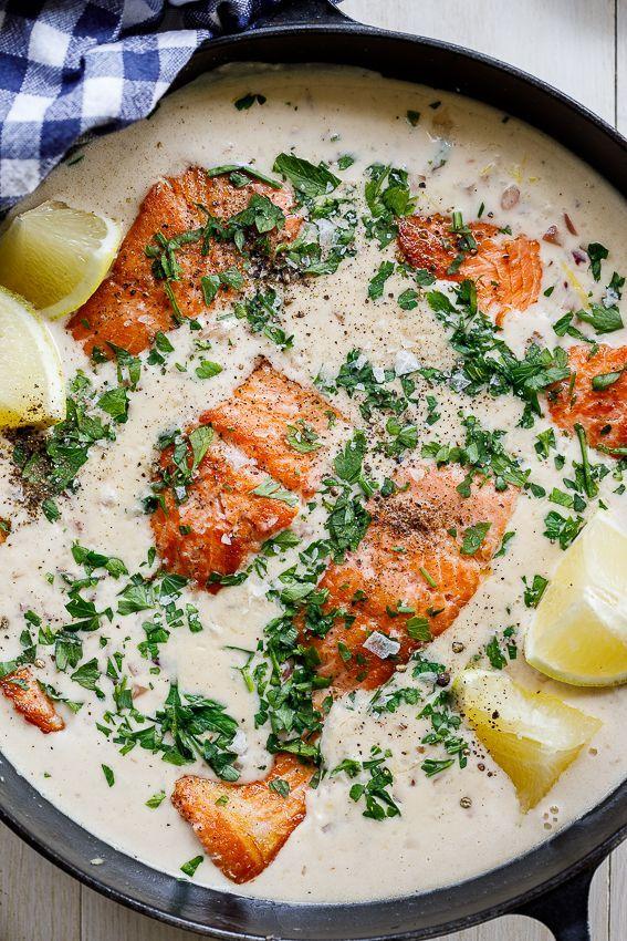 Photo of Creamy garlic butter salmon – Simply Delicious