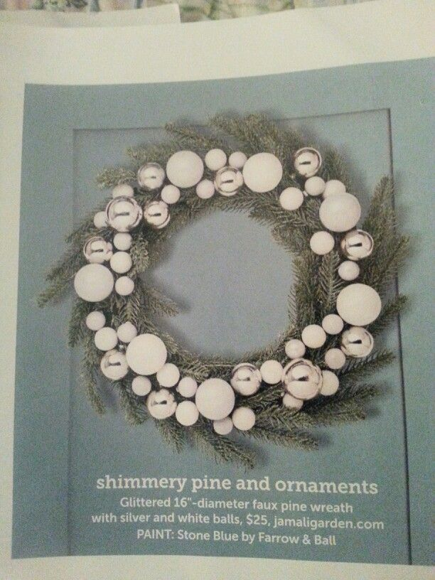 Shimmery pine & ornaments wreath