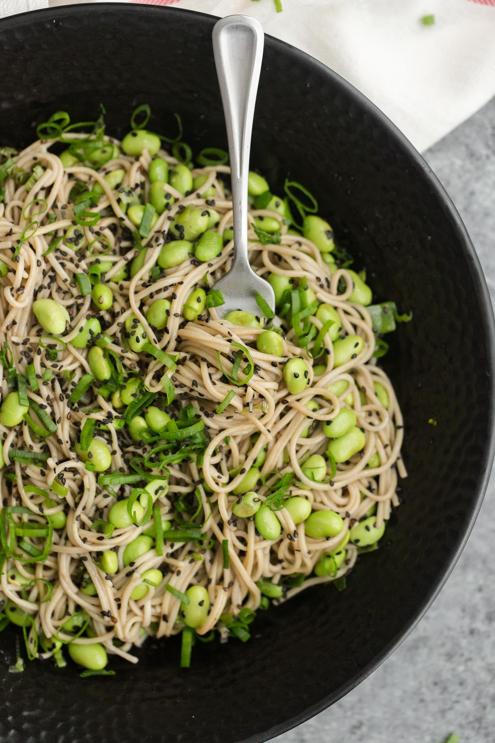 Sesame Soba Noodle Bowl With Edamame Recipe Soba Noodles