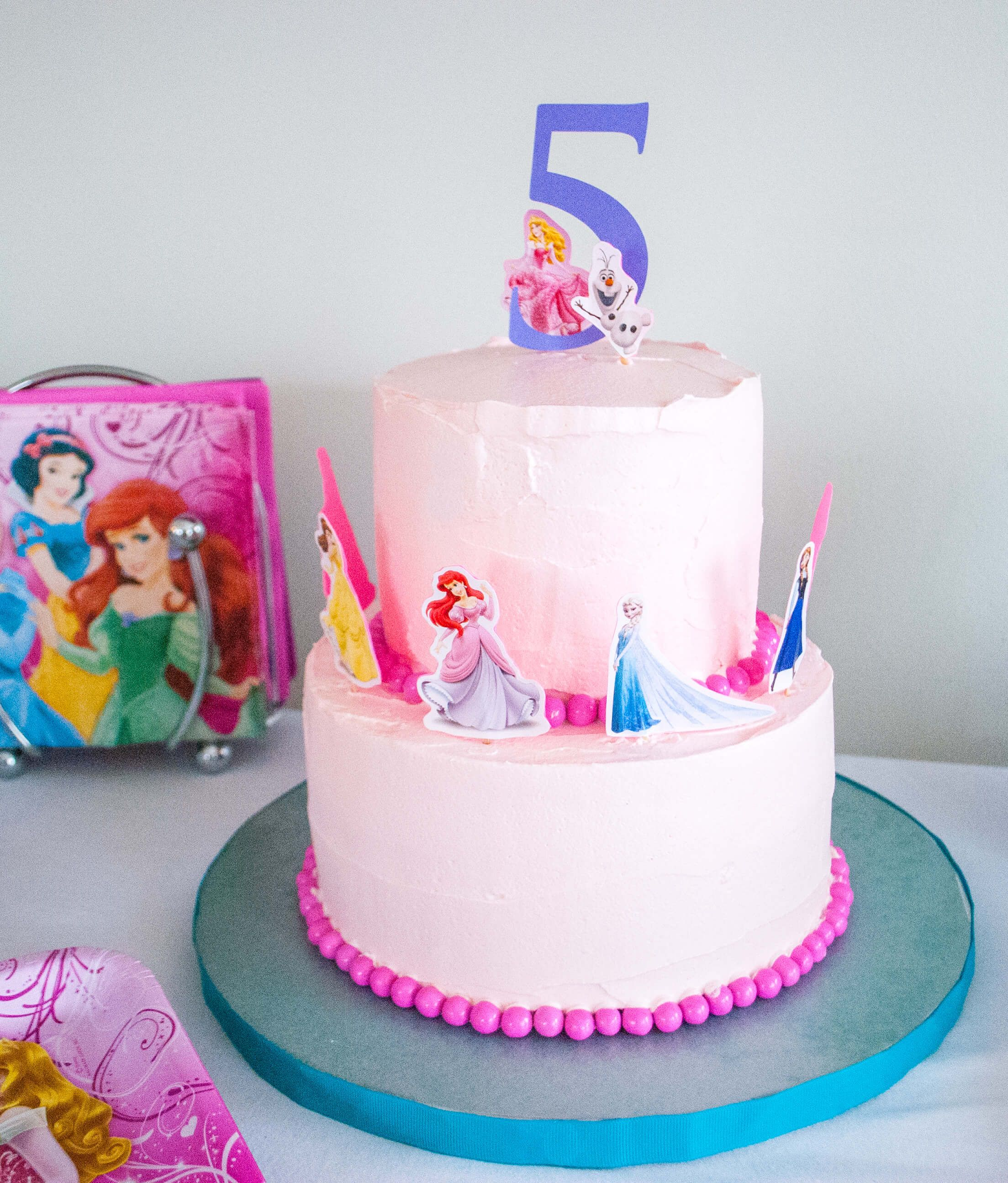 Make An Easy Disney Princess Birthday Cake Using Stickers Yes