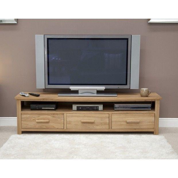 Opus Solid Oak Wide Plasma TV Unit   Tv unit furniture ... Plasma Unit Design