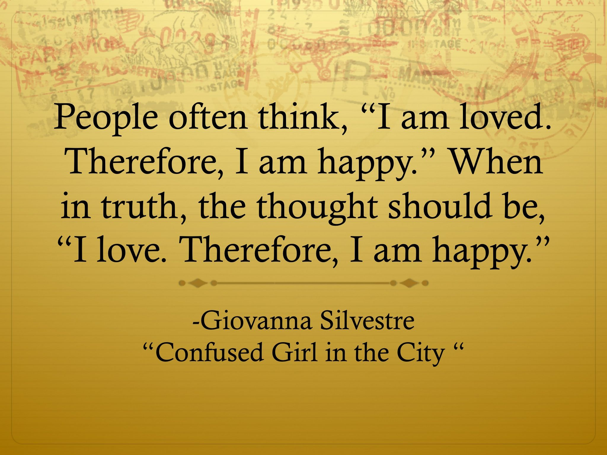 Confused Girl in the City Quote about Love!  #quote #lovequote #quoteoftheday