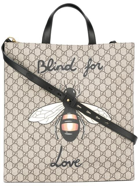 9a91f96a849 GUCCI Bee Print Soft Gg Supreme Tote.  gucci  bags  canvas  tote  leather   shoulder bags  hand bags  cotton