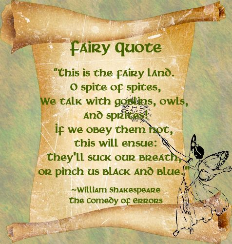 William Shakespeare Poetry Quotes: Fairy Quote - William Shakespeare